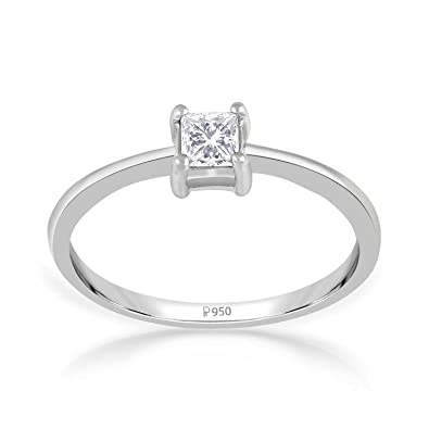 15326765fe Buy Malabar Gold and Diamonds 950 Platinum Ring for Women Online at Low  Prices in India | Amazon Jewellery Store - Amazon.in