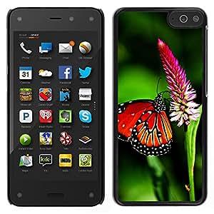 LECELL--Funda protectora / Cubierta / Piel For Amazon Fire Phone -- Primavera de la mariposa del vuelo Alas Verde Naturaleza --