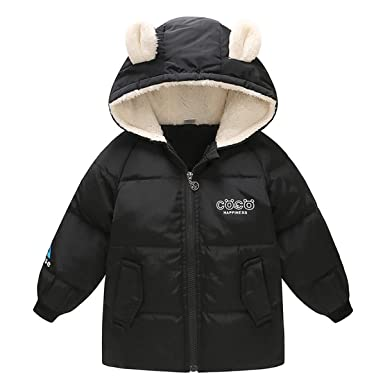 0c98547e2 Bebone Toddler Baby Down Jacket Boys Girls Hooded Parka Coat ...