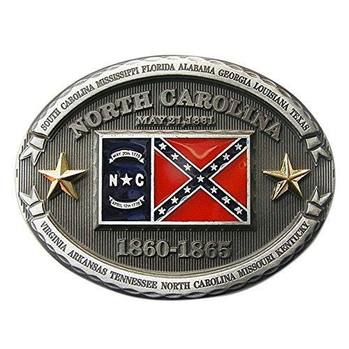 New Vintage North Carolina Oval Flag Belt Buckle also Stock in US