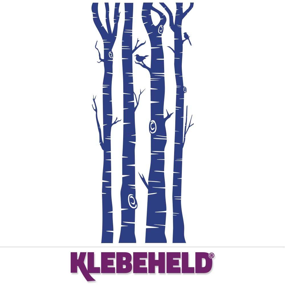 KLEBEHELD® Wandtattoo Birkenstämme - Birken - Stämme - - - Birkenstamm Farbe weiss, Größe 200cm B071GJ516W Wandtattoos & Wandbilder a594a6
