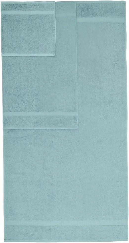 Pinzon Organic Cotton Bathroom Towels, 6 Piece Set, Spa Blue: Home & Kitchen