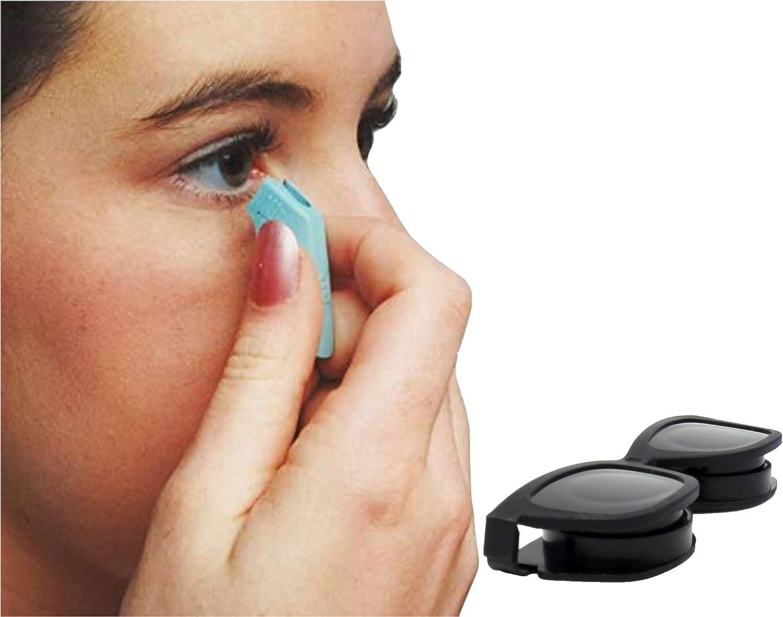 Amazon Com Contact Lens Remover Tool Dmv Soft Lens Handler 1 Pack W Free Black Contact Lens Case Health Personal Care