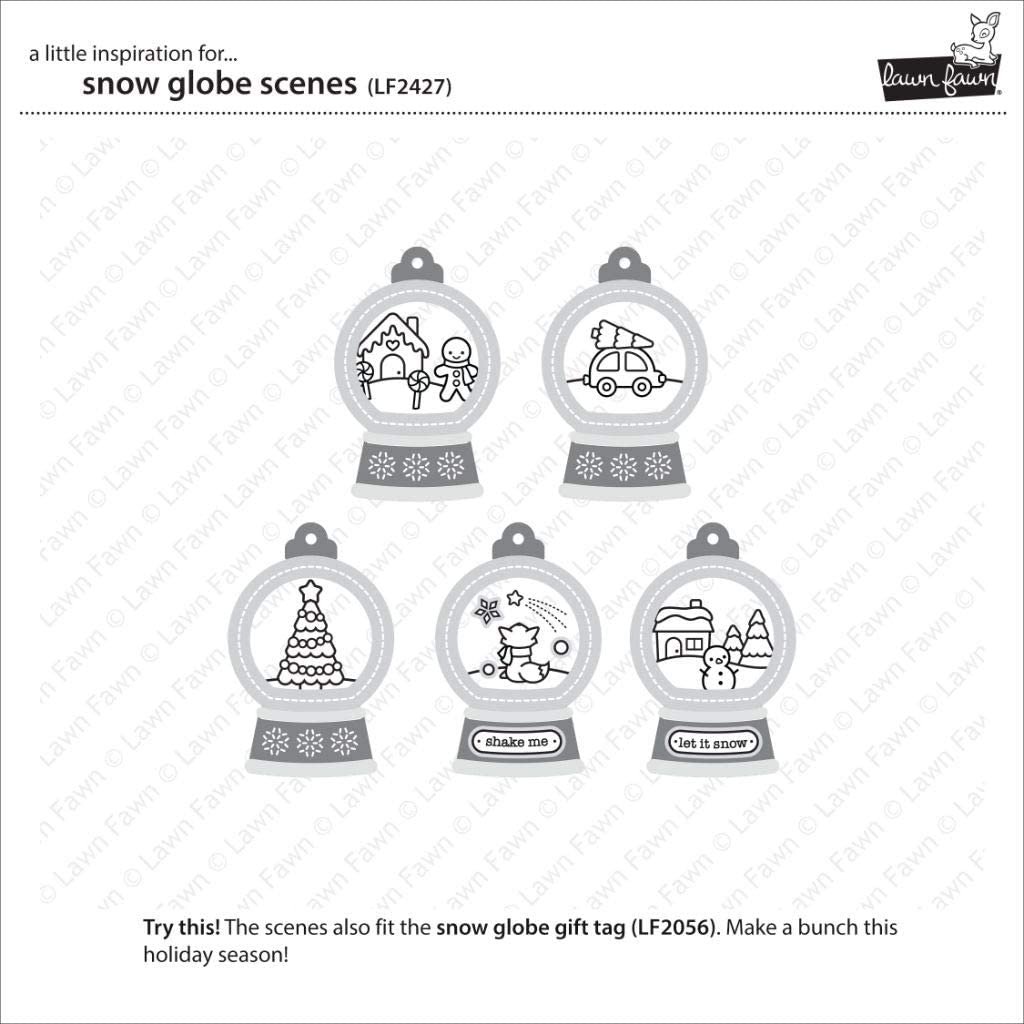 Lawn Fawn Clear Stamps 4X6-Snow Globe Scenes