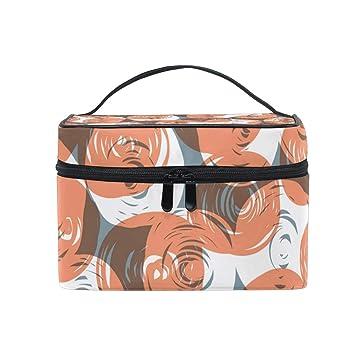 69a9e9a3089a Amazon.com   Geometric Figure Round Portable Cosmetic Toiletry Bags ...