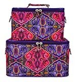 Jenzys Makeup Train Case Set (Paisley)