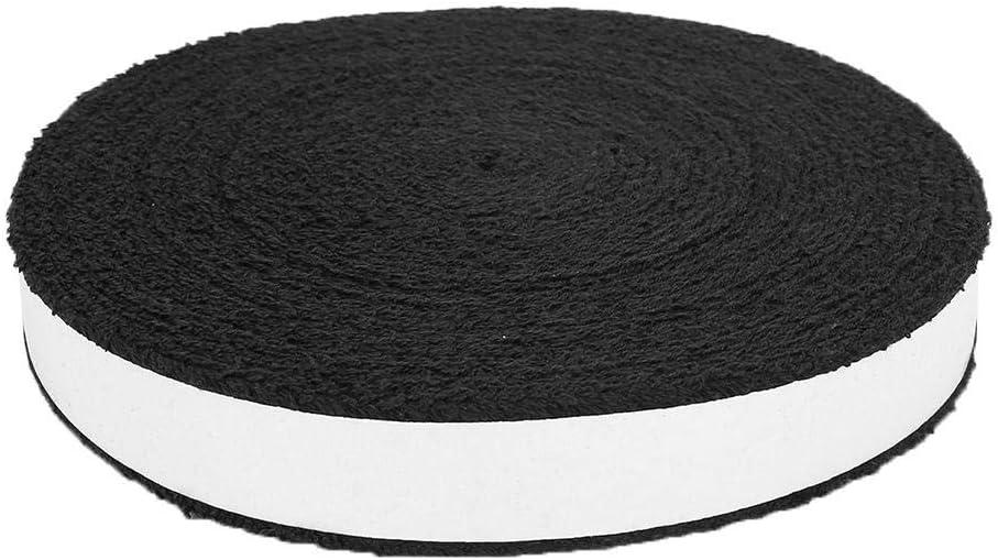 Non-Slip Cotton Badminton Tennis Racquet Racket Big Reel Towel Grip Roll Overgrip Sweatband Tape Wraps VGEBY1 Racquet Tape Wraps Black