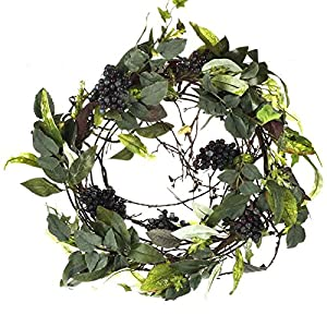 Factory Direct Craft Flocked Golden Artificial Grape Cluster Wreath for Decorating, Crafting and Creating 102