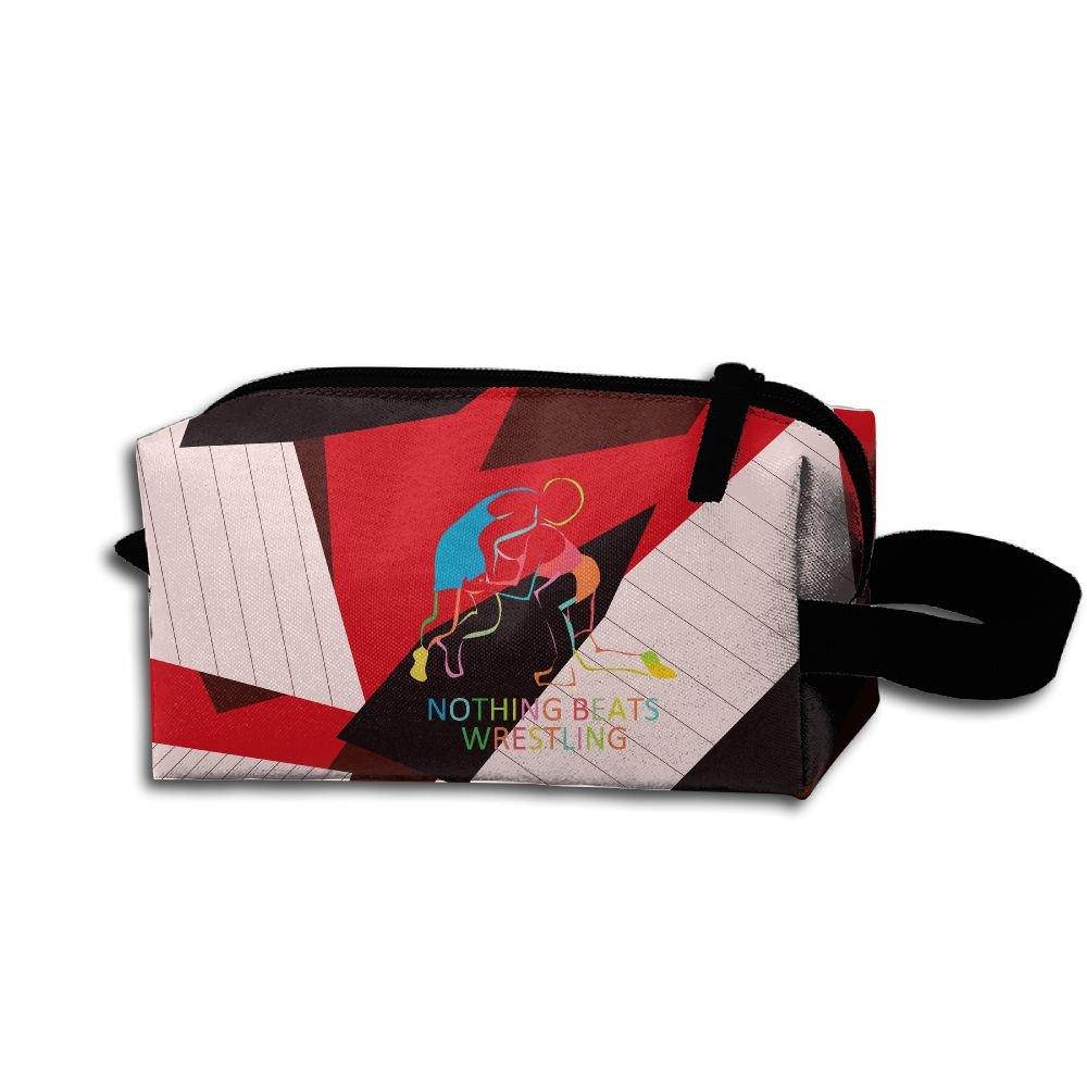 Nothing Beats Wrestling Unisex Creative Portable Travel Hanging Organizer Bag For Women