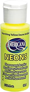 product image for DecoArt Americana Neon's Paint, 2-Ounce, Scorching Yellow