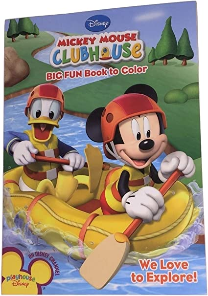 - Amazon.com: Disney Mickey Mouse Clubhouse Big Fun Book To Color ~ We Love  To Explore (96 Pages; Coloring And Activity Book): Toys & Games