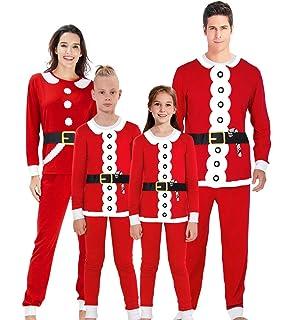 Idgreatim Family Matching Christmas Pajamas Sets Nightwear Tops and Long  Pants Sleepwear Lounge… 1dd08a3c2