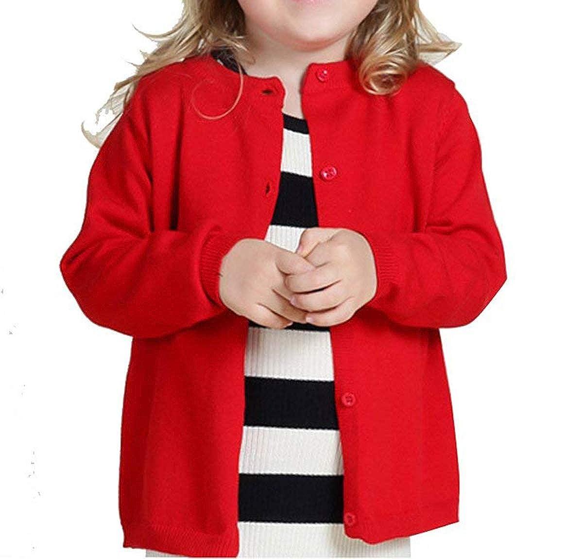 f013147367e8 Amazon.com  Dutebare Baby Girls Long Sleeve Cardigans Toddler ...