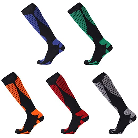 Beautiful Thicken Winter Snow Skating Long Ski Socks Stocking Leg Protection Warm Sports For Kids Women Men Outdoor Hose Ski A Wide Selection Of Colours And Designs Hiking Socks