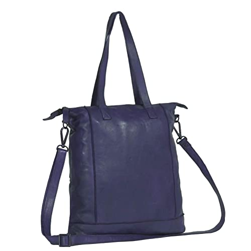 8d4a1613fb5e7 Chesterfield Leather Shopper Bag Navy Black Label Lyra 15 Inch ...