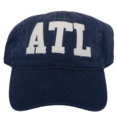 b713b69d7bc ATL Atlanta Airport Code Felt Logo Hat Navy at Amazon Men s Clothing ...