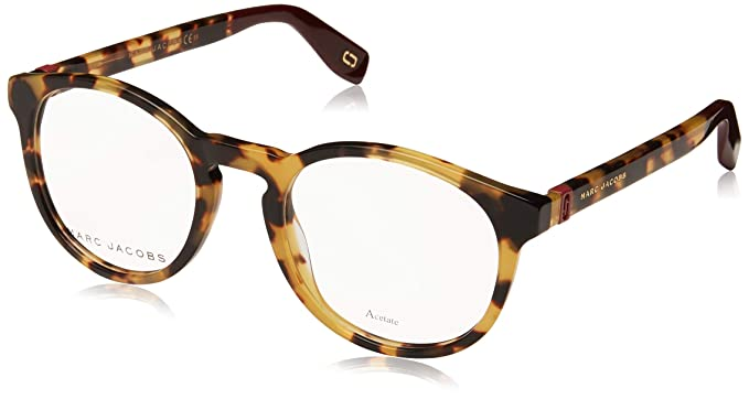 aef5c83f26 Image Unavailable. Image not available for. Color  Marc Jacobs Marc 352 SCL  Yellow Havana Plastic Round Eyeglasses 49mm
