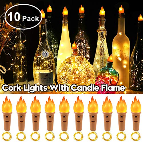 StillCool 10 Packs 20 LED Wine Bottle Lights Copper Wire covid 19 (Copper Bottle Stopper coronavirus)