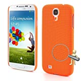 JUJEO Orange Dream Mesh Plastic Case for Samsung Galaxy S4 I9500 SGH-I337, Non-Retail Packaging, Orange
