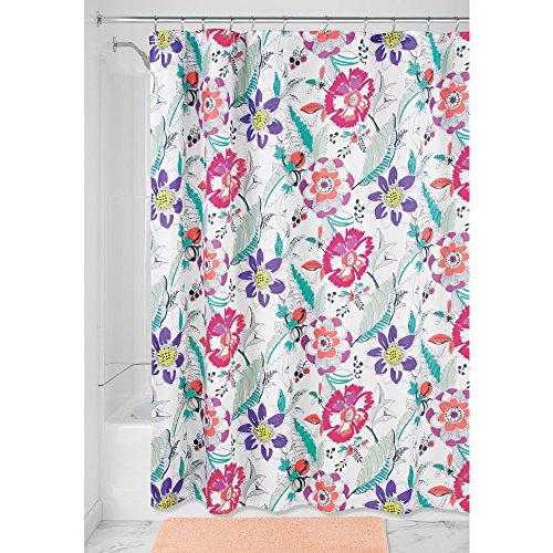 InterDesign Painterly Floral Fabric Shower Curtain - 72