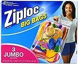 ziploc big bags - Ziploc Big Bags, XXL Double Zipper Bag - 3 ct - 2 pk