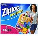 Ziploc Big Bags, Jumbo Double Zipper Bag - 3 ct - 2 pk