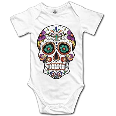 92b16ded331 Amazon.com  Infant Sugar Skull Cute Baby Onesie Bodysuit  Clothing
