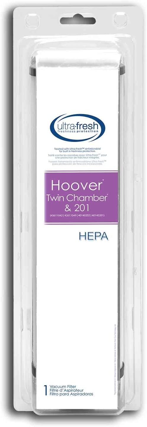 Ultra-Fresh Hoover Twin Chamber and 201 HEPA Filter, 1 Filter for Models 43611042, 42611049, 40140202 and 40140201