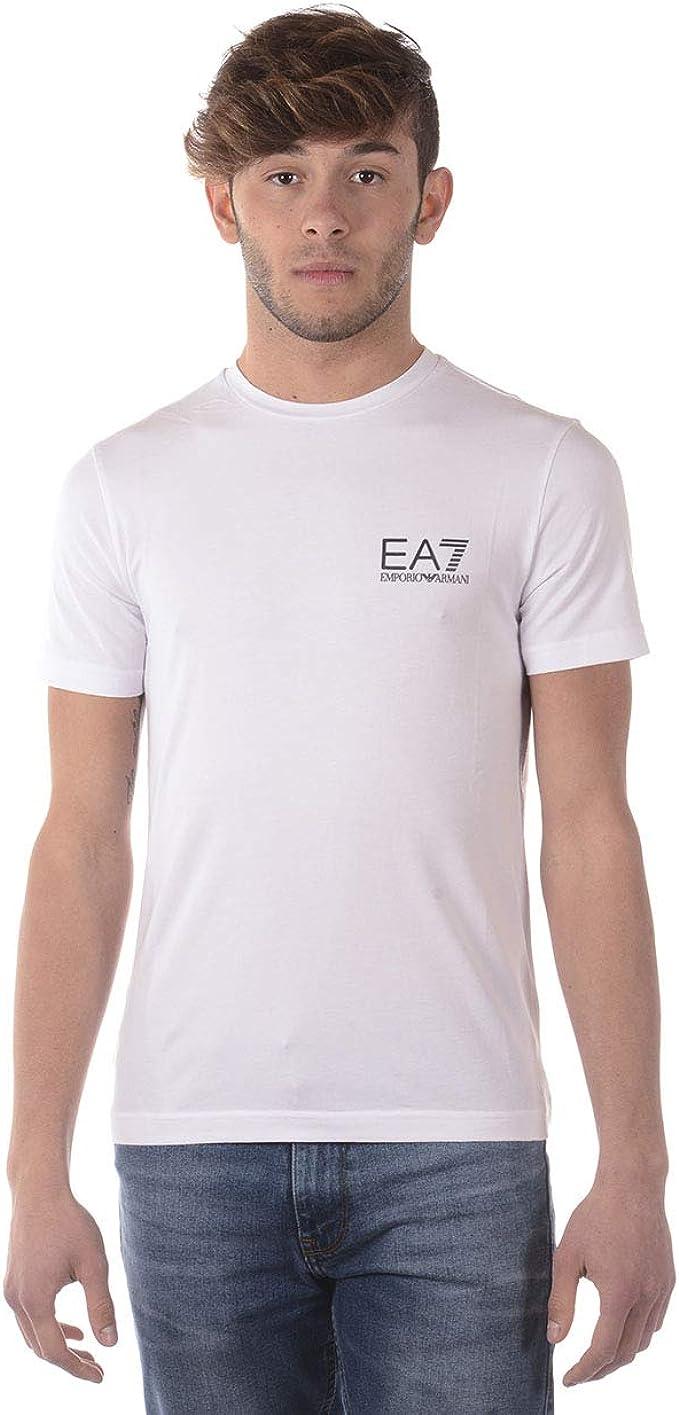 Emporio Armani Ea7 Clásico Estirar Camiseta Algodón Hombres ...