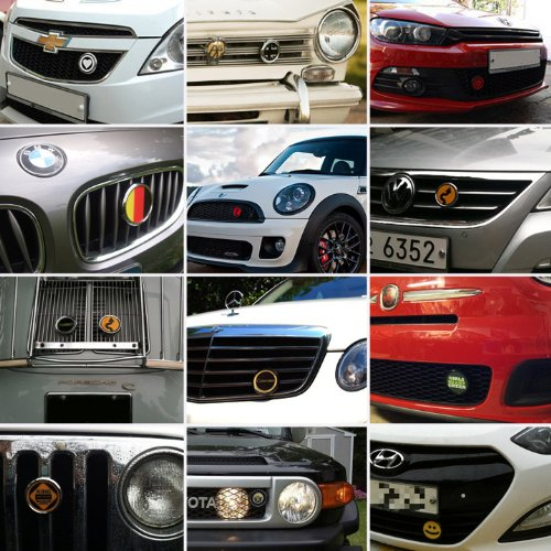 Magnetic Chrome Grill Badge Holder Combo//Universal Fit//No Tools Required//Weather-Proof and Car-Wash Safe GoBadges CKC042 Half Marathon
