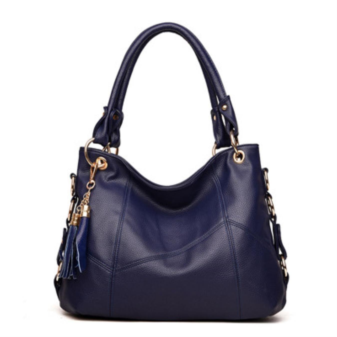 bluee Women Leather Handbags Tassel Messenger Bags Designer Crossbody Bag Women Shoulder Bag Tophandle Bags Vintage
