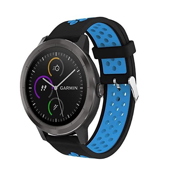 Jewh Colorful Replacement - Sport Silicone Band Strap for Garmin Vivoactive 3 - Smart Watch Band