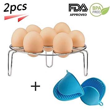 Estante para vaporizador de huevos para accesorios de ollas instantáneas y olla a presión, acero