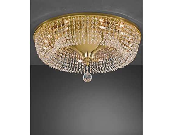 Plafoniere Con Cristalli : Lampadario da soffitto a led w rettangolare con cristalli