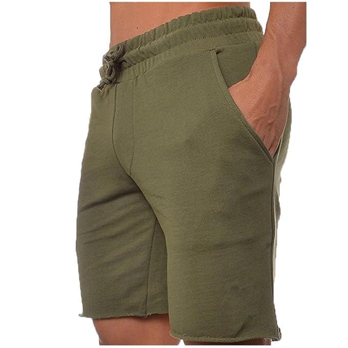Pantalones Cortos Hombre Baratos, Verano Moda Pantalones Cortos De Fitness Para Hombre Culturismo Pantalones Cortos Casuales De Pantalones De Playa