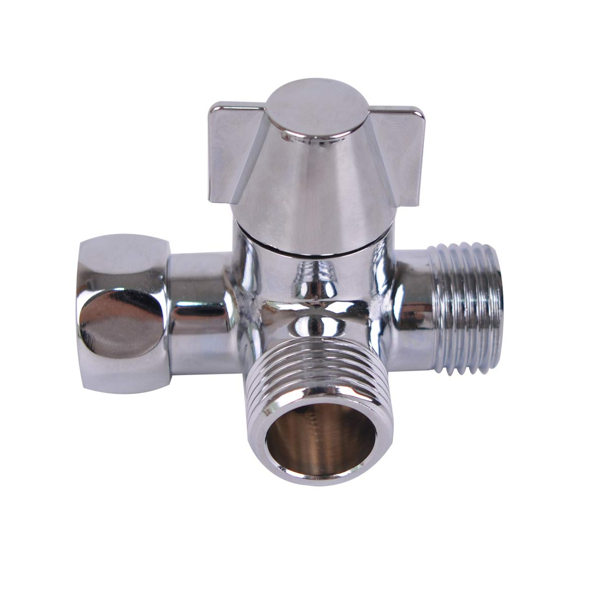 Baitaihem G1/2' Universal 3 Way Brass Shower Diverter Valve Handshower for Handshower Universal Showering Components
