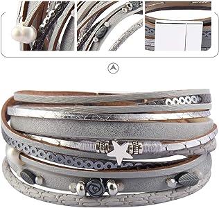 Boho bracelet wrap bracelet flower leather bracelet for birthday gift for women Unique bracelet for sister Pressed flower jewelry wife gifts