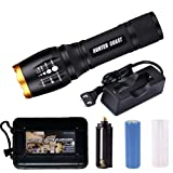 Amazon Price History for:Led Flashlight, HUNTER COAST Ultra Bright Portable Handheld Waterproof Zoomable Tactical Torch flashlights