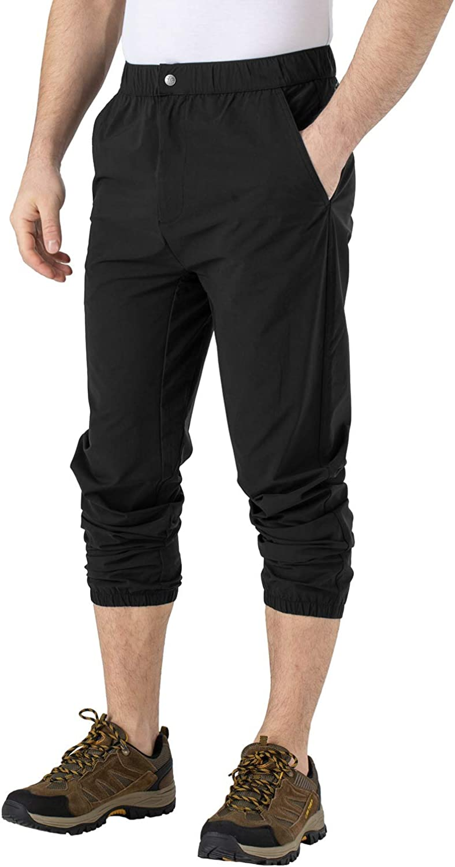 Rdruko Mens Outdoor Hiking Pants Quick Dry Lightweight Fishing Travel Climbing Work Pants 4 Pockets