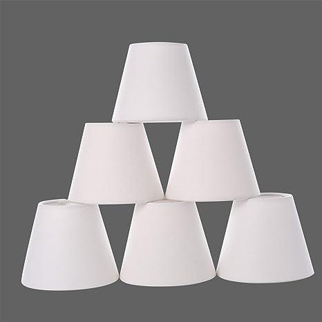 Amazon.com: Juego de 6 lámparas de araña con clip, con tapa ...