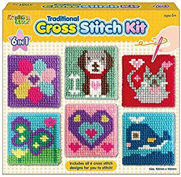 Crafts Decoration For Children Handmade Cross Stitch Kits Arts Diy Tool Stitching Beginners Kids Home Hand Embroidery With Frame Cross-stitch