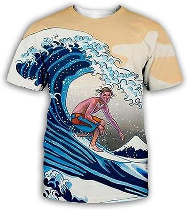 Impresión De Surf En Spray Cómico Camiseta Estampada 3D De ...