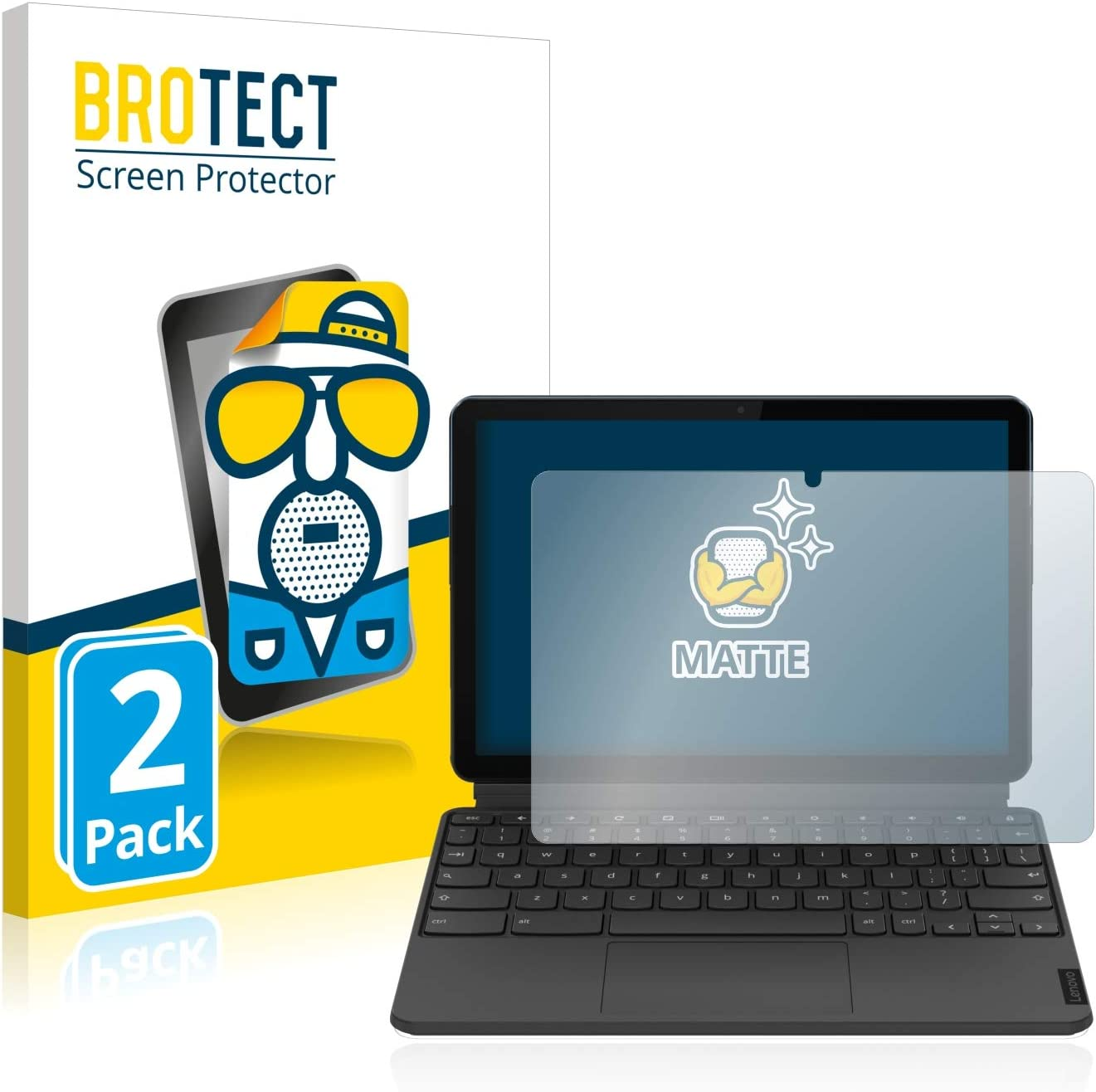 BROTECT 2X Entspiegelungs-Schutzfolie kompatibel mit Lenovo IdeaPad Duet Chromebook Displayschutz-Folie Matt Anti-Fingerprint Anti-Reflex