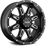 Gear Alloy Dominator 18x9 Black Wheel / Rim 6x135 & 6x5.5 with a 0mm Offset and a 108.00 Hub Bore. Partnumber 725MB-8906800
