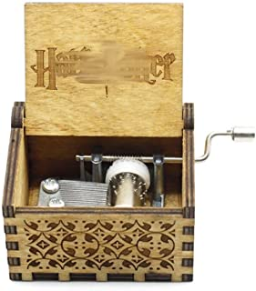 ASGHSA Regalo di Festa Antique Carving Music Box Music Box Wooden Hand Melody Theme Music2Packa S
