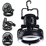 toppowersellerus Portable LED Camping Lantern with Ceiling Fan for Camping Hiking and Emergency