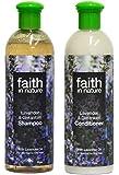 Faith In Nature Lavender & Geranium Shampoo 400ml & Conditioner 400ml Duo