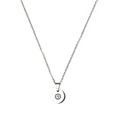 Fanstown Kpop Team Logo 0.4 inch Diameter Round Shape Water Prove Necklace Fashion and Cool (GOT7 B): Toys & Games