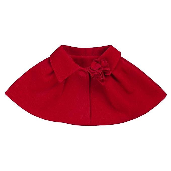 Freebily Capa Poncho para Bebé Niña (12 Meses-3 Años) Chaqueta de Vestido de Princesa Boda Fiesta Infantil Niña: Amazon.es: Ropa y accesorios