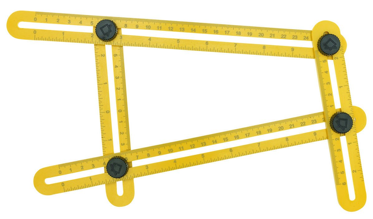 VINIUVI Template Tool, Ultimate Multi-Angle Measuring Ruler for Builders, Craftsmen and DIY-ers
